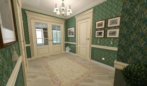 Интерьер квартиры в классическом стиле в г.Уфа
