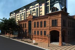 Эскизное предложение музейного комплекса на пересечении ул.М.Карима и ул.Чернышевского в г.Уфа