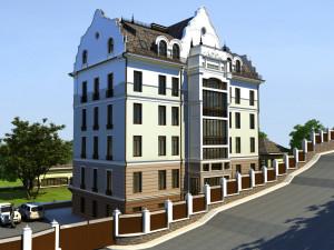 Здание апарт-отеля на ул.Набережная в г.Уфа