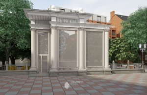 Эскиз торгового павильона на пересечении ул.Ленина и ул.Чернышевского в г.Уфа
