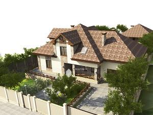 Жилой дом на окраине д.Уптино
