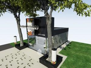 Проект павильона по пр.Октября между 5 и 7 домами в г.Уфа