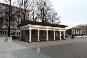 Проект павильона по ул.Первомайская (пеш. аллея) в г.Уфа