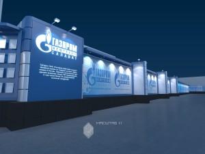 Эскиз информационного оформления фасадов офиса «Газпром» в г.Салават