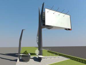 Проект рекламной конструкции в г.Уфа