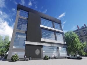 Эскиз офисного здания по ул.Р.Зорге в г.Уфа