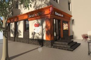 Проект информационного оформления фасадов турецкого кафе по ул.Коммунистическая, 40а в г.Уфа