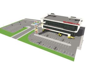 Проект центра по продаже тракторов коммунального, строительного и сельскохозяйственного назначения по ул. Сарапульская в г.Уфа