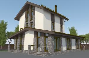 Проект жилого дома в д.Блохино