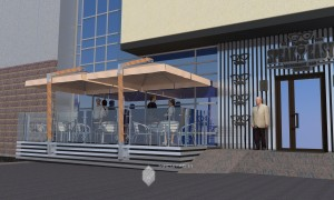Проект летнего кафе ресторана «Speak Easy»