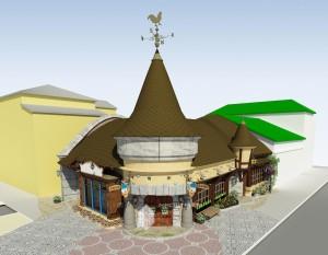 Эскизное предложение детского кафе на ул.Ленина в г.Уфа