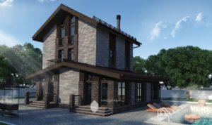 Проект жилого дома в д.Блохино (вариант 2)