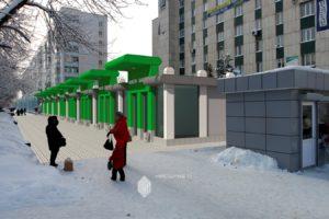 Проект торгового комплекса по бул.Молодежный, 10 к2 в г.Уфа (построен)