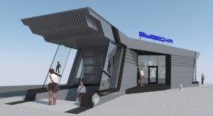 Проект павильона с навесом над подземным переходом на остановке «Центральный рынок» в г.Уфа