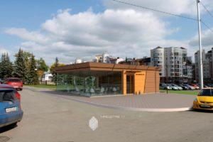 Проект павильона-кафе по ул.Кирова в г.Уфа