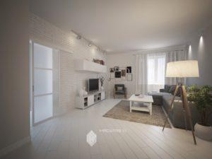 Дизайн-проект квартиры в жилом комплексе «4 сезона» в Уфе
