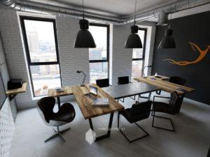 Дизайн-проект офиса в стиле лофт в г.Уфа