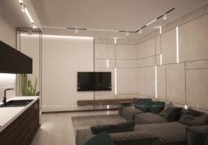 Проект художественного оформления интерьера квартиры в Green Park г.Уфа